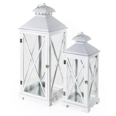Lanterna arles bianca idea giardino di gattulli alessandro for Lanterne in legno
